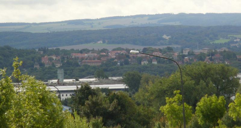 View over the City of Weimar from the hiking trails surrounding the apartment