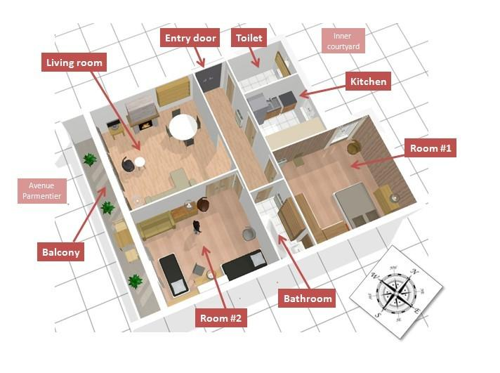 3D view of the flat