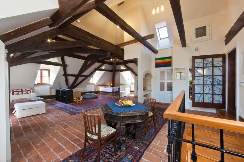 Huge space with unique decoration