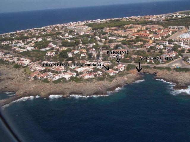 Localizacion de la propiedad frente al mar