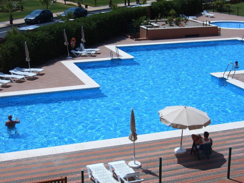 Large private pool and view from our balcony
