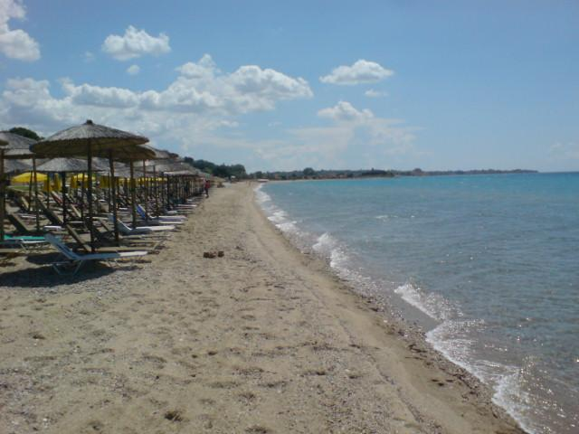 the beach about 900 meters from the villa
