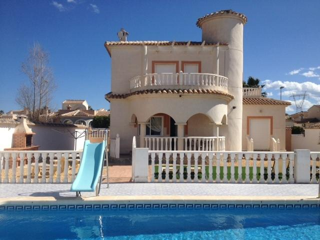 Villa from pool area