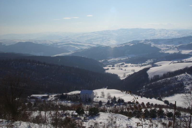 panorama invernale dalla masseria Avellaneta