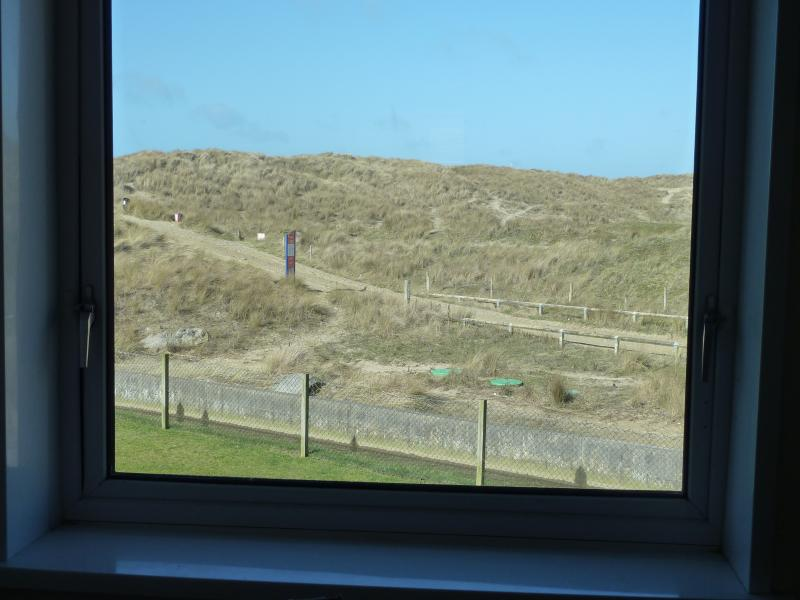 View of the dunes from the lounge and double bedroom