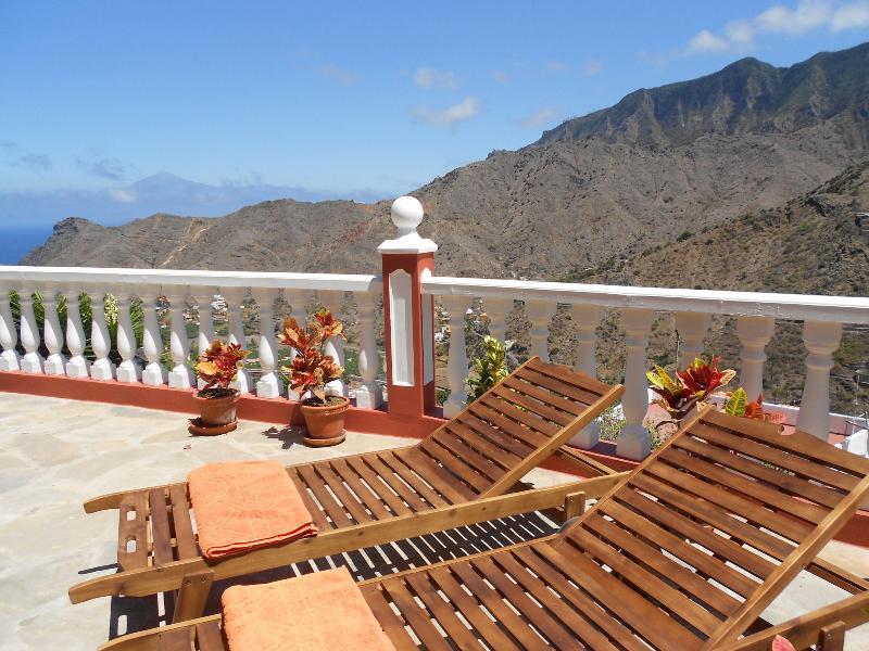 Terraza privada con vistas abiertas.