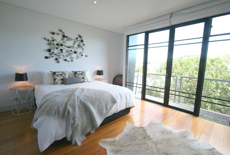 Huge master bedroom with city views!