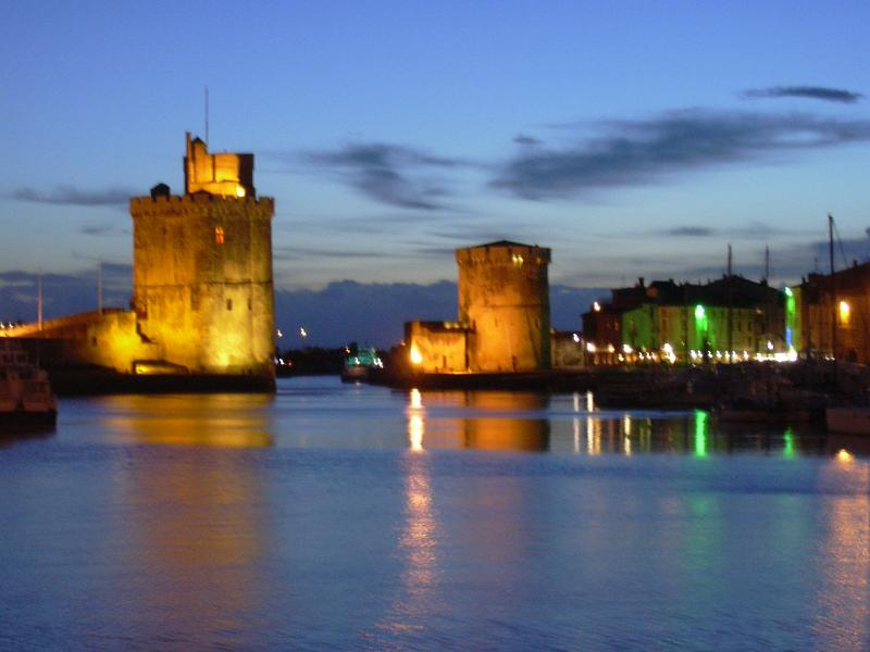 Towers at La Rochelle by night