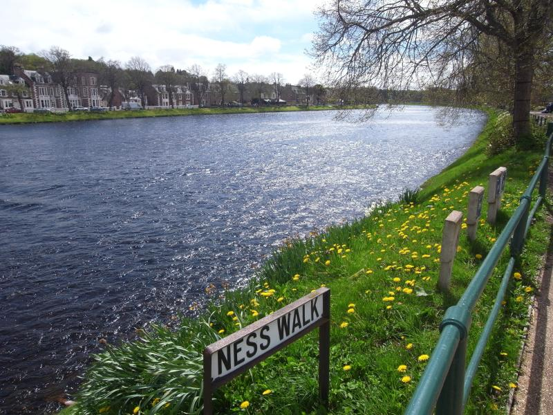 Beautiful River Ness is under 10 minutes on foot