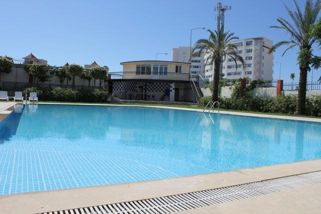 Another view of the communal pool, never crowded