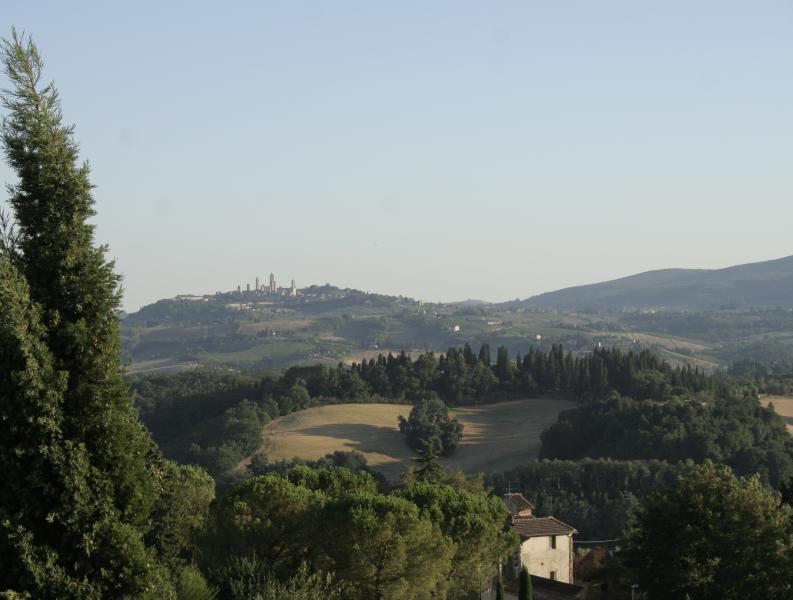 BEST VIEW in SAN GIMIGNANO CITY Tuscany Landsc.3 bedro.PODERE MAGIONE FARM HOUSE, vakantiewoning in Ulignano