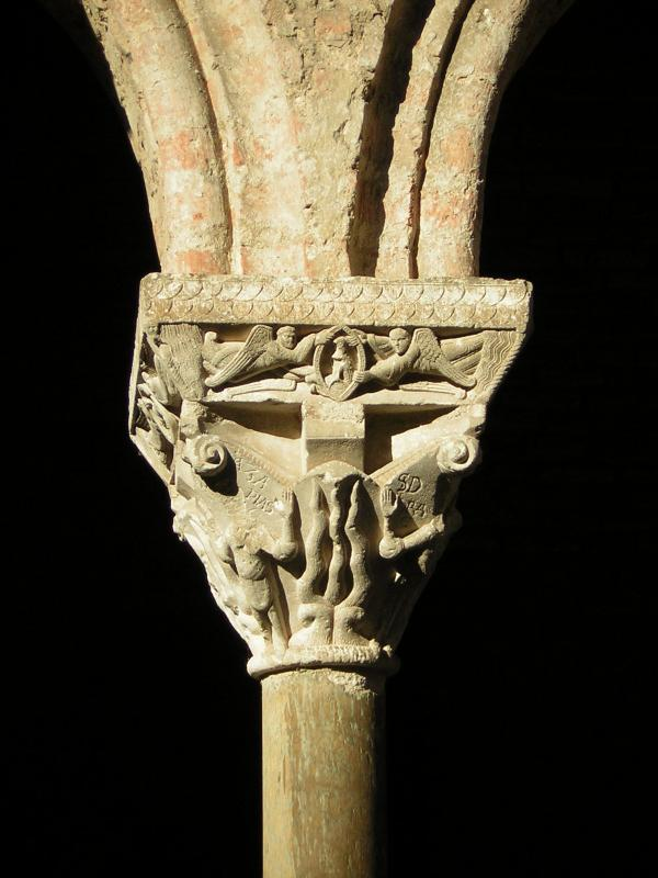 Bello claustro de Moissac - clasificado Patrimonio Mundial por la Unesco-