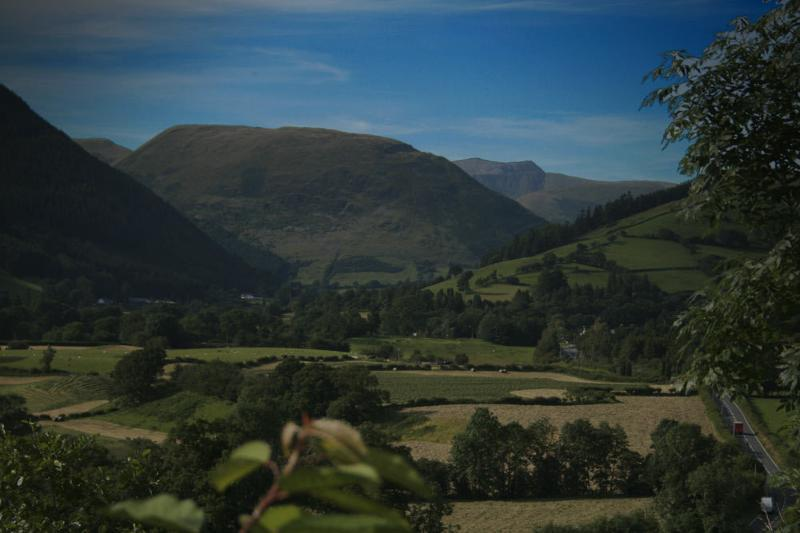 View of snowdonia mountains and Dyfi Valley from property