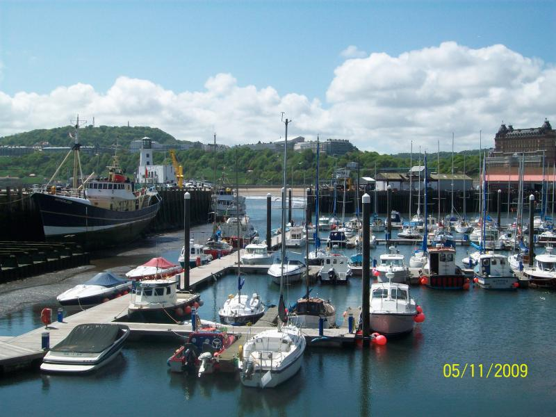 Scarborough harbour with new pontoons