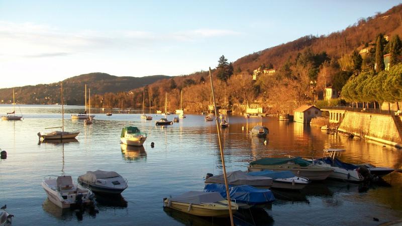 The quiet port of Solcio at dawn
