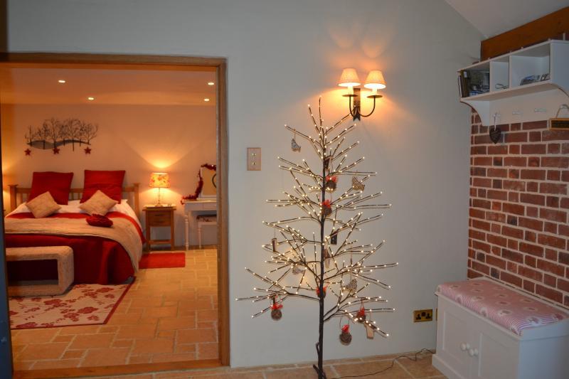 Grange de saules décoré à Noël