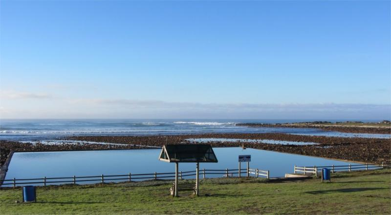 Tidal pool directly in front of the house