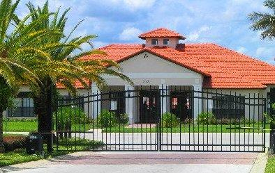 Highgrove gaitted entrance and club house / fitness center