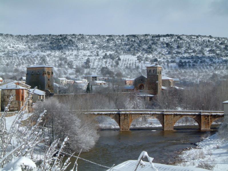 Villa medieval de Covarrubias en invierno, cualquier época está preciosa para venir.