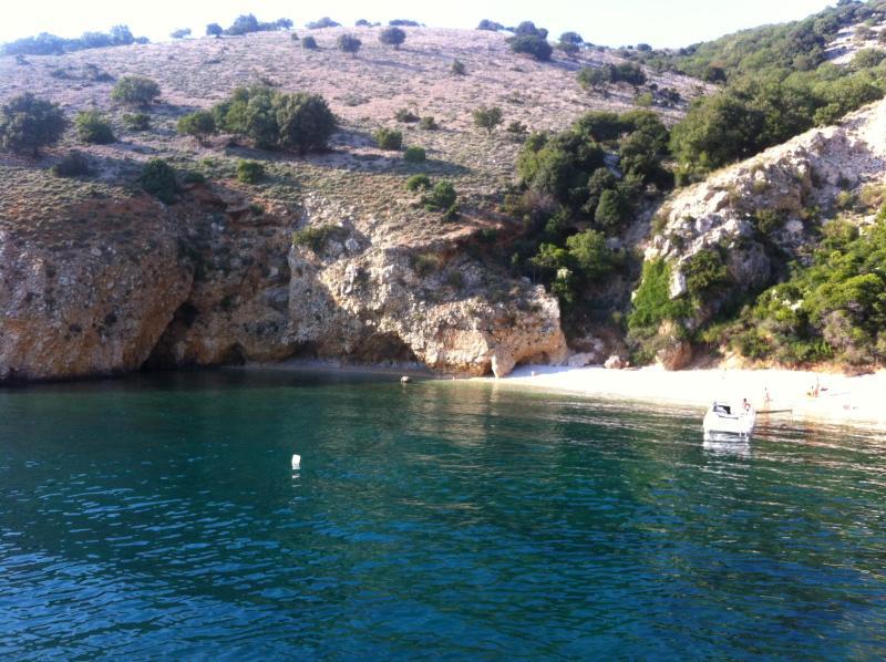playa en la isla de Krk