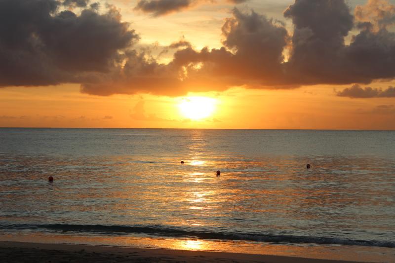 Stunning sunset at Glitter Bay
