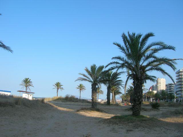 playa de Gandia ala que se accede desde el apartamento
