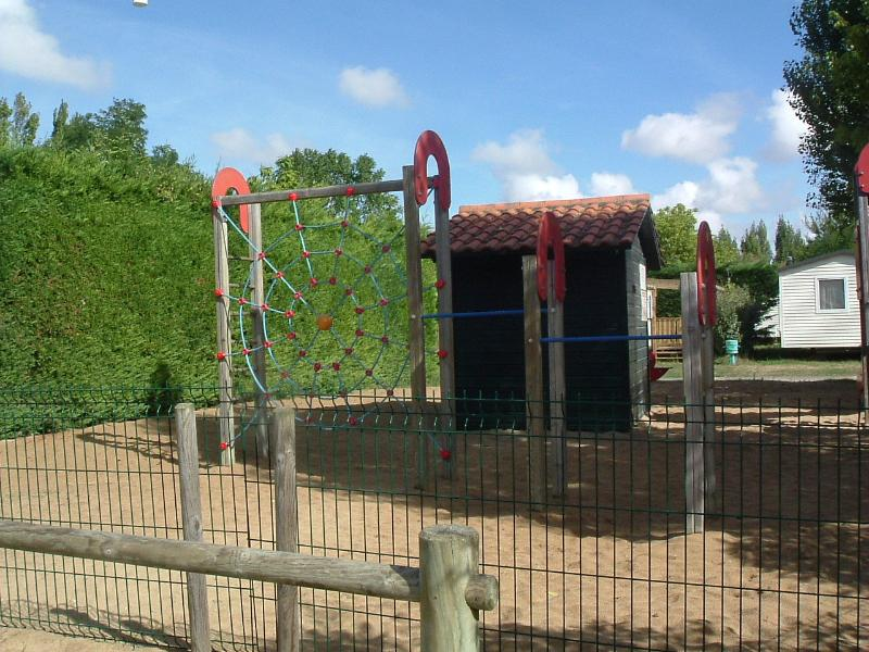 One of several play areas equipped with slides, climbing frames etc
