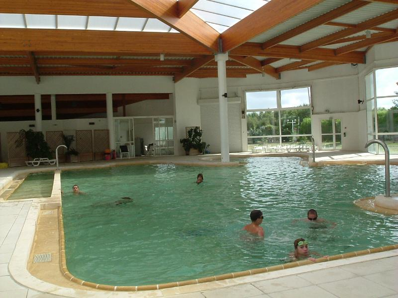 The indoor pool.Has jacuzzi element, fountain and a small baby pool.  Loungers  & changing area.