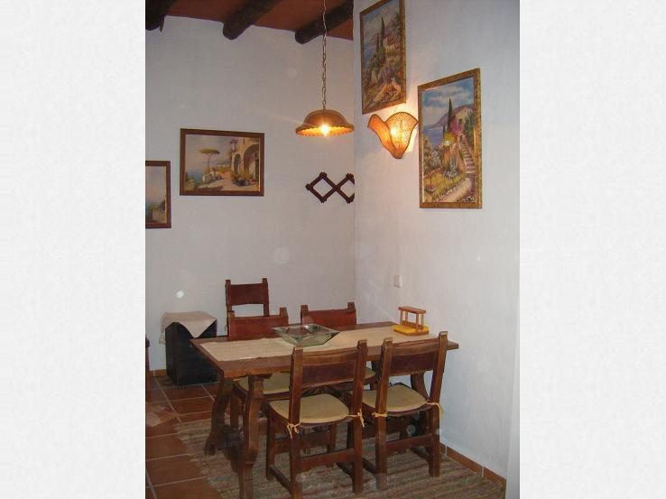 dining corner in the kitchen