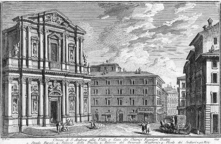 17th century ETCHING OF ST. ANDREW's OUR BUILDING IN the BACKGROUND