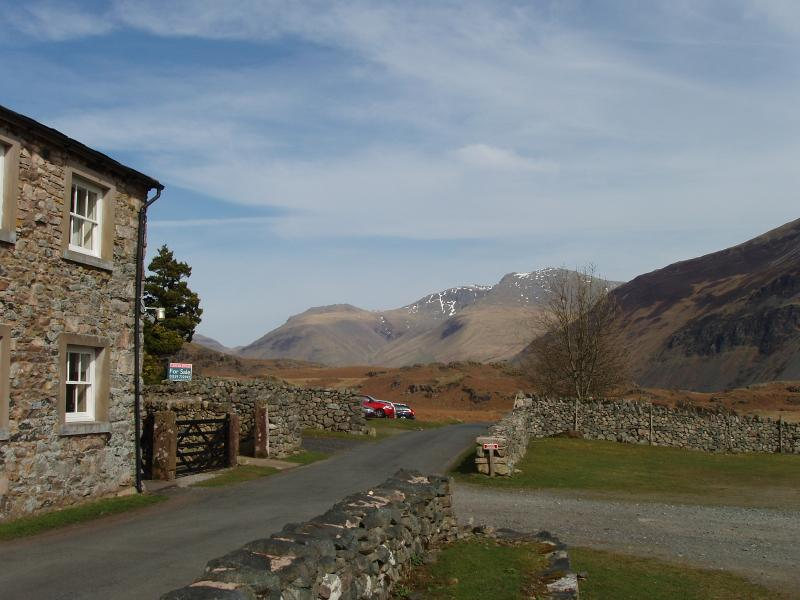 View of the Scafells from the front gate