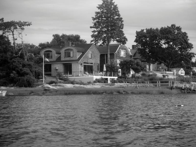 View of house from the water.