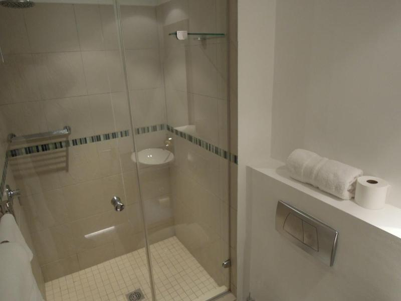 2nd Bathroom with shower, toilet and basin.