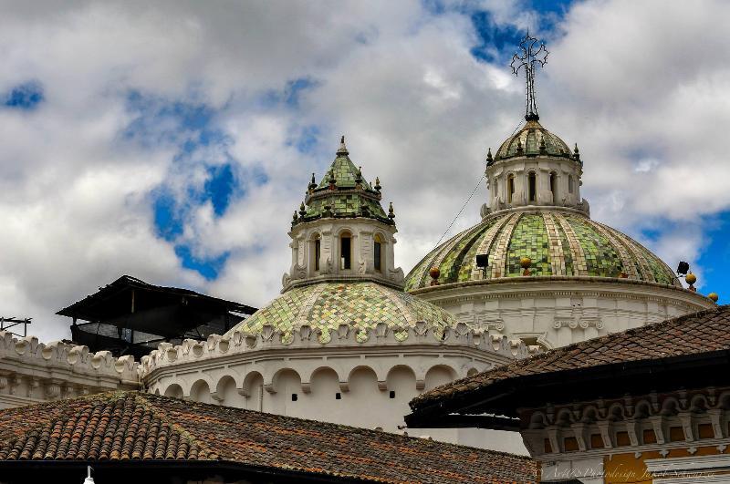 Cupolas of a Church of Quito