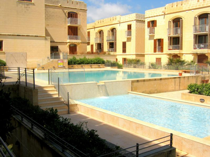 The smaller of the two communal pools, having also a separate children's pool