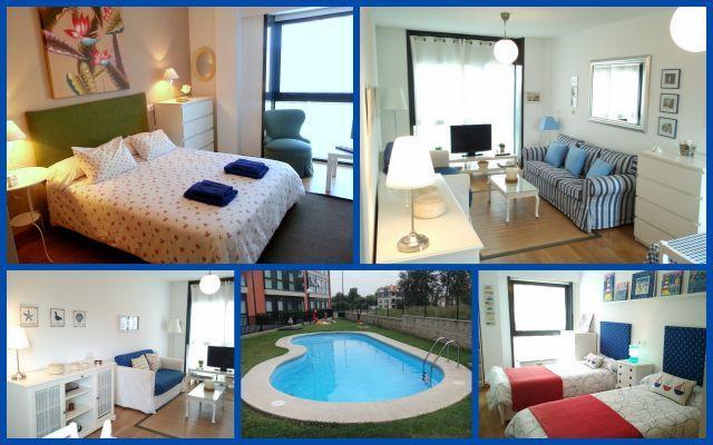 Living Galicia playa y piscina, alquiler vacacional en Ares