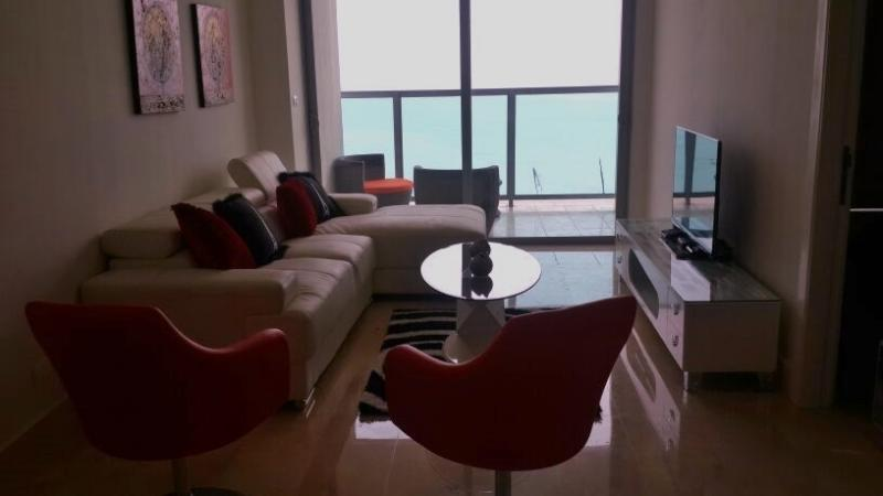 Comfortable lounge with 42-inch LED TV and cable tv service