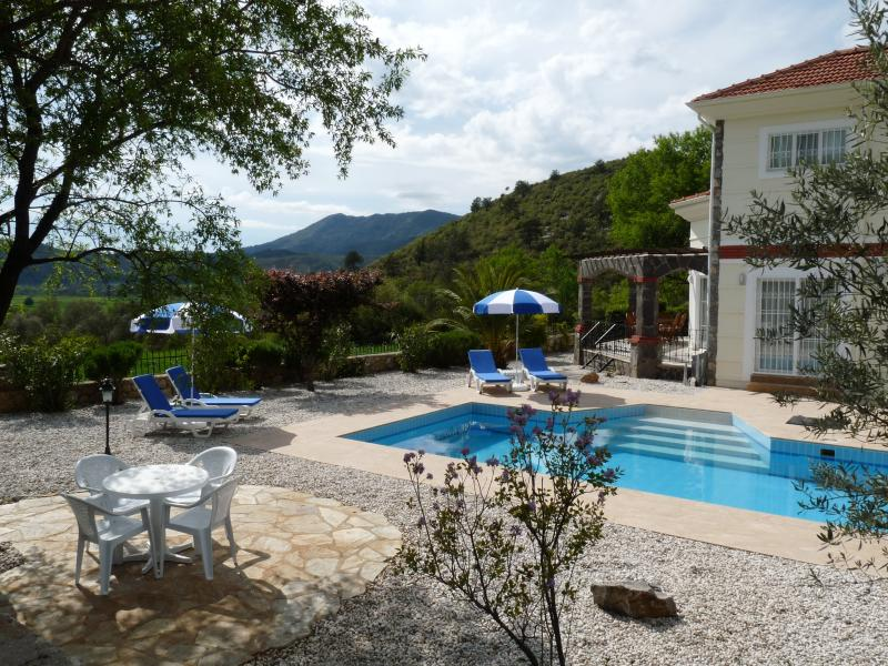 Villa with large pool and sunbathing areas