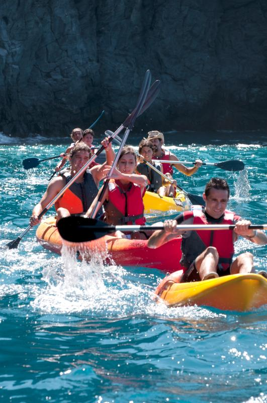 escursione kayak con dive club tenerife