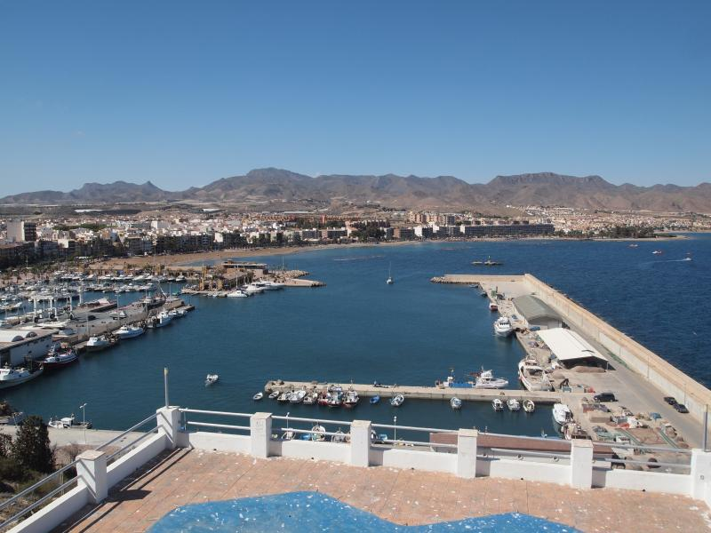 Aerial view of the port of Mazarron.