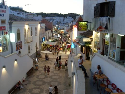 The Old Town at night.