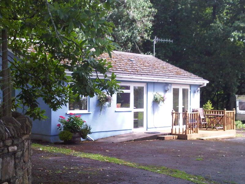 Bluebell Cottage exterior. Sheltered and tranquil.