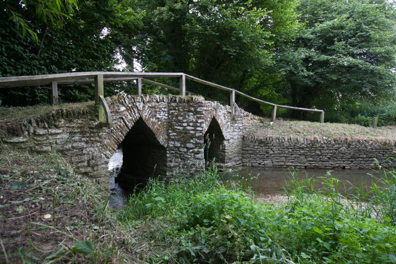 Medieval Pack Horse Bridge a short walk from the cottage