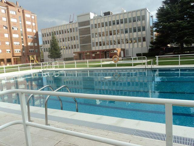 Outdoor / first apartment community pool.
