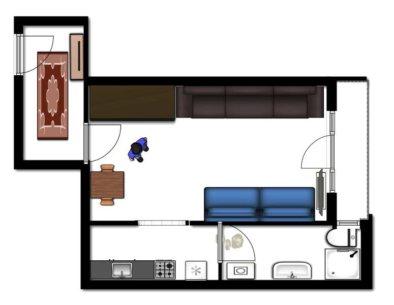 2D map of the apartment