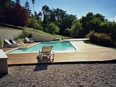 Totally private 10x5m pool with sundeck