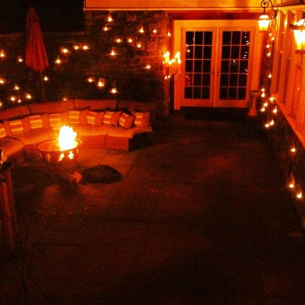 Courtyard at night
