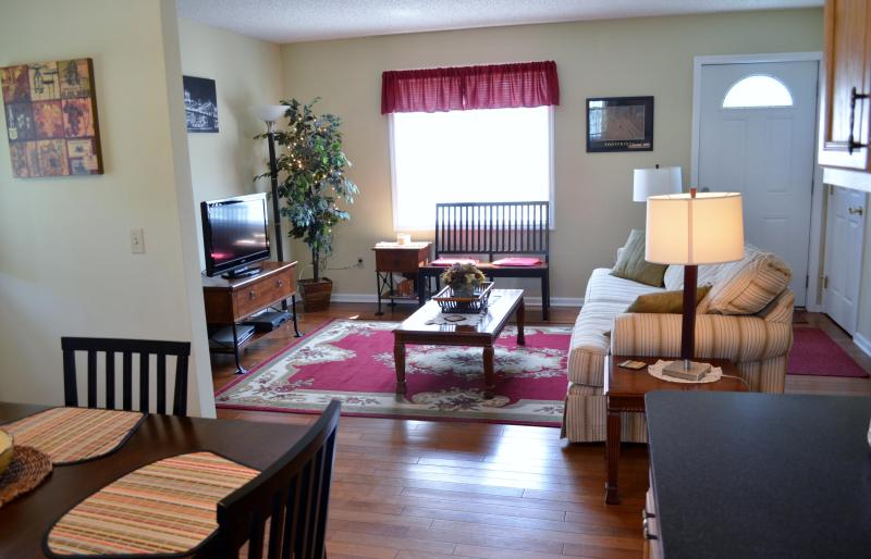Sun filled rooms, sofa sleeper, flat screen TV,cable and wireless internet