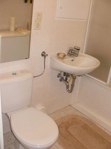 The bathroom provides a full-bath and shower facilities