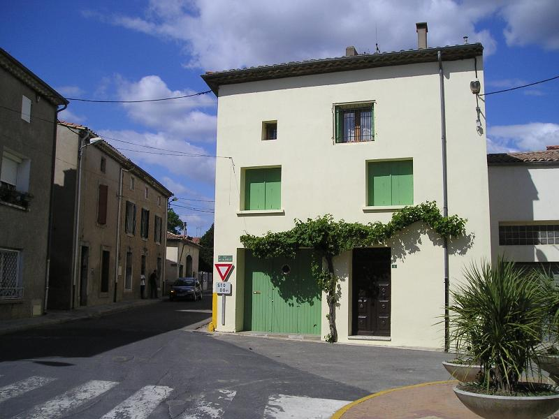 Our large, three-storey house, 'La Vigne' in the village square